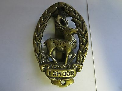 """EXMOOR"" Brass Antique English Door Knocker"