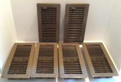 Metal Brown Floor Vent Covers set of 6 Used