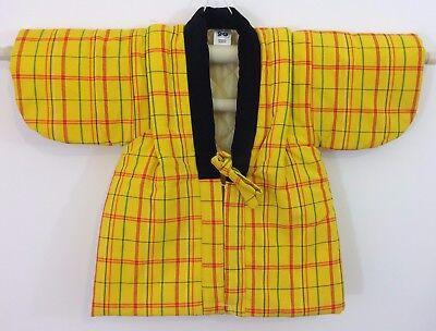 NEW Authentic Japanese yellow hanten jacket for 90cm tall little girls (AB1650)