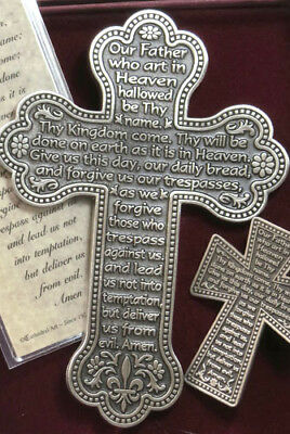Our Father Pewter Wall Cross Set