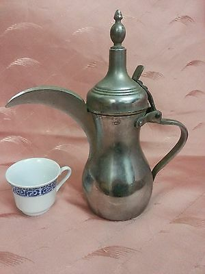 Vintage Antique Brass Islamic Bedouin Arabic Original Dallah signed Coffee pot