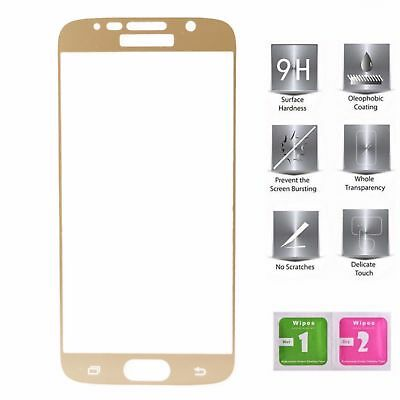 Front Full Coloured 9H Tempered Glass Screen Film For Samsung Galaxy S7