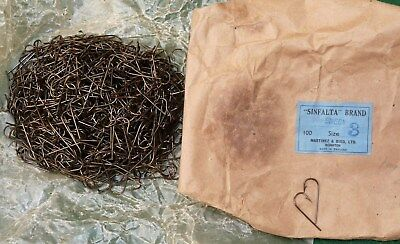 1000 vintage blind eye fishing hooks Sinfalta fly tying old shop stock size 3