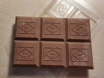 Marijuana chocolate bar mold with THC symbol - 2 bars per mold - FREE THC Stamp