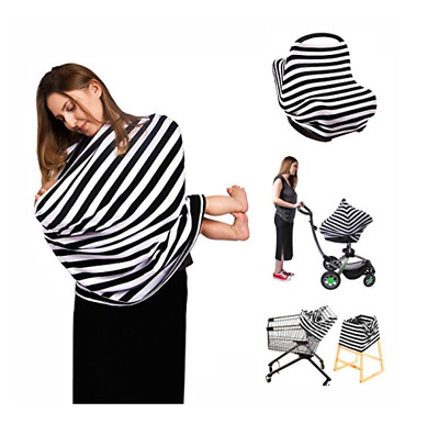 Nursing Top Cover Scarf Breastfeeding Car Seat Canopy Multi Use Baby Shower Gift