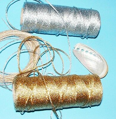 BEAUTIFUL BAKERS TWINE 2mm 12 PLY Solid Gold or Silver Metallic - Craft String