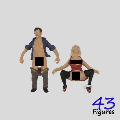 604ab / lovers white metal two figures set 1:43 O scale 43figures