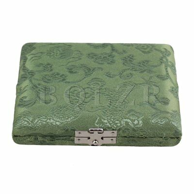 BQLZR Green Bassoon Reed Box Case with Flannel Slot Hold  Bassoon 3-Reeds