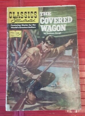 Vintage 1956 Classics Illustrated the Covered Wagon  # 131 comics  book.