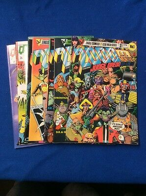 2000 A.D. Monthly Featuring Judge Dredd Comic Book Lot: Features (8) Different .