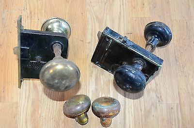 Lot Of 2 Antique Brass Mortise Locks 1 is Sargent and the Older One Is Unbranded
