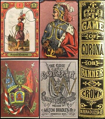 Scarce 1874 Historic Milton Bradley Antique Playing Cards Obsolete Parlor Game