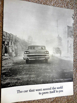 Original 1958 FORD That Went Around the World brochure catalog, mint