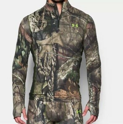 NWT Under Armour Mens  1/4 Zip Infrared Scent Control Mossy Oak 1259131 SZ Large
