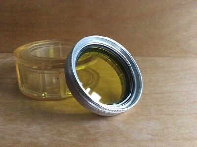 Kodak Series VI Adapter Ring  1 13/32 inch-355mm With Ednalite Yellow Filter L39