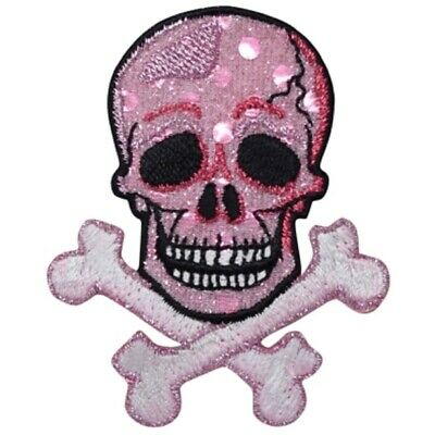 Skull and Crossbones Applique Patch (Iron on)