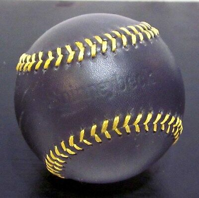 Spinneybeck Leather Baseball - Black Leather / Gold Stitching