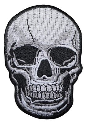 Skull Applique Patch (Iron on)