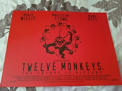 Twelve Monkeys mini quad poster UK minis cinema original movie Bruce Willis dvd
