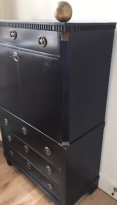 Antique French Bureau Secretaire A Abattant