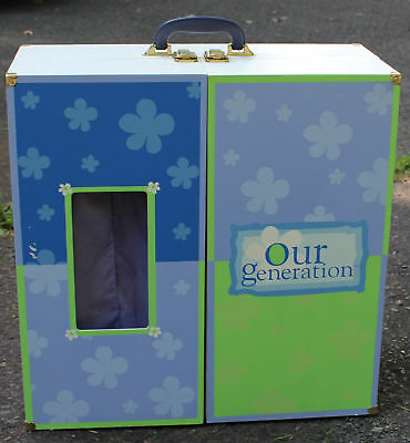 Our Generation Wardrobe Murphy Bed Wood Carrying Case Local Pick-up in NJ