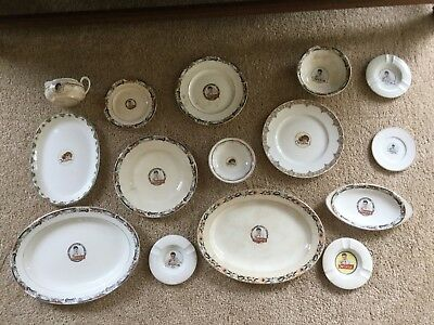 RARE vintage MOXIE soda dish wear collection