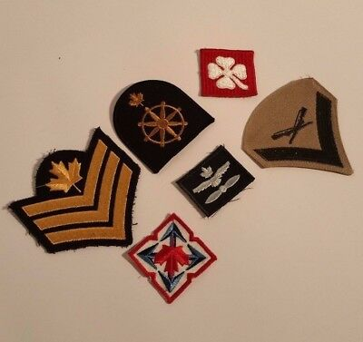 Canadian  Navy Army Military Air Force Patches Set 6