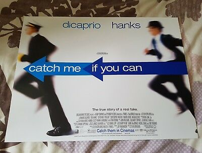 Catch me if you can mini quad poster UK minis cinema original movie Tom hanks