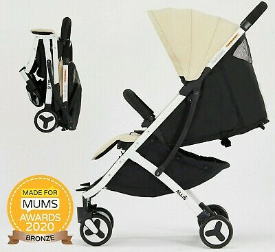 Allis Lightweight Pushchair Kids Travel Buggy Pram Baby Stroller - Beige