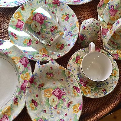 13 Pieces Of Lord Nelson Chintz Rose Time Stunning! Bargain!