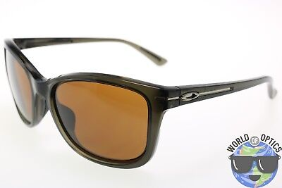 Oakley Women's Sunglasses OO9232-15 DROP IN Grey Crystal Frame/ Dark Bronze Lens