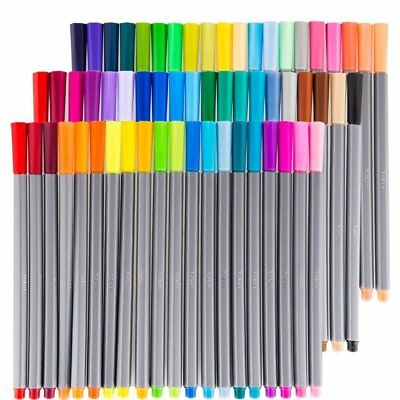 New 60PCS 0.4mm Different Assorted Color Fineliners Set Art Painting Markers Pen