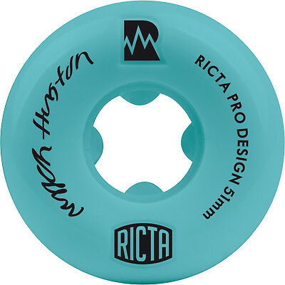 RICTA WHEELS Skateboard Rollen *Niyjah Huston Pro NRG* Set, 51 mm, 81b Teal