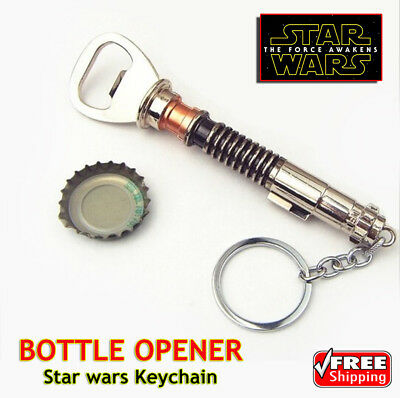 BOTTLE OPENER Star wars Keychain Modelled On Luks Lightsaber 2017 FREE SHIPPING
