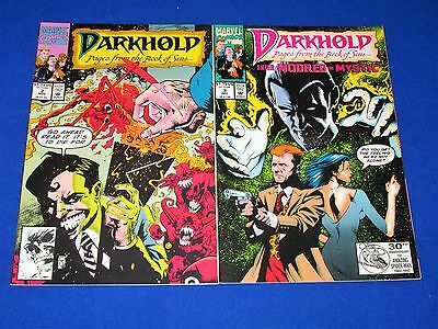 DARKHOLD Issues 2 and 3 [Marvel 1992] NM- or Better!