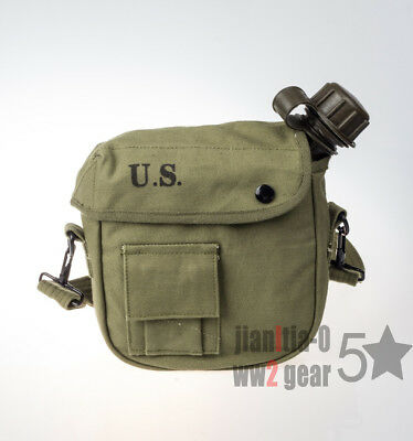 Reproduction Outdoor Vietnam War Us Army Canteen And Cover Set