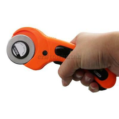 45mm Rotary Cutter Sewing Fabric Craft Quilting Hand Cutting Tool w/ Blades