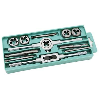 12Pcs/Lot Metric Tap Wrench and Die Set M3-M12 Nut Bolt Alloy Hand Tools