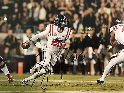 Shea Patterson Signed Autographed Ole Miss Rebels 8x10 Photo Proof Coa