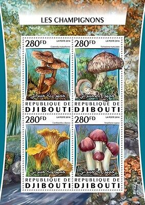 Z08 Imperforated DJB16302a DJIBOUTI 2016 Mushrooms MNH