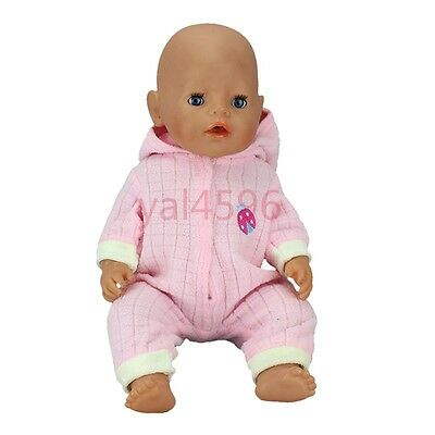 pink soft jumpsuit Wearfor 43cm Baby Born zapf (only sell clothes)