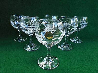 Vintage Penrose Hand Cut Wine Glasses Set Of 6  Made In Waterford Ireland Boxed