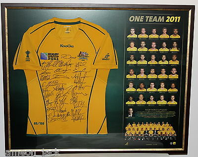 Wallabies Rugby World Cup Signed Jersey 'One Team 2011'
