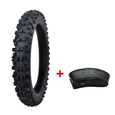 """2X 60/100-14"""" Inch Dirt Pit Pro Trail Bike Tire 2.75-14"""" Knobby Front Tyre Tube"""