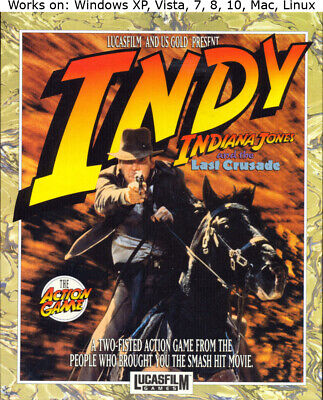 Indiana Jones and the Last Crusade PC Mac Linux Game 1989 Win XP Vista 7 8 10
