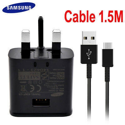 Genuine Fast Charger Plug + Type C Cable Fit For Samsung Galaxy S8 S9+ A3 2017