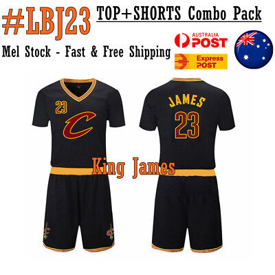 LEBRON JAMES The King Basketball Jersey LBJ#23 CAVS Top + Shorts Cavaliers