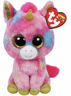 "TY Beanie Boos Regular 6"" - Fantasia the Multi Colour Unicorn Plush"
