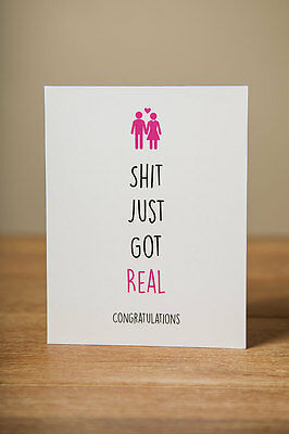 Greeting Card - Engagement, Wedding, Funny, Congratulations, Funny, Cute, Quirky