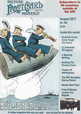 PICTURE POSTCARD MONTHLY MAGAZINE  - August 2017 - PPM no.460